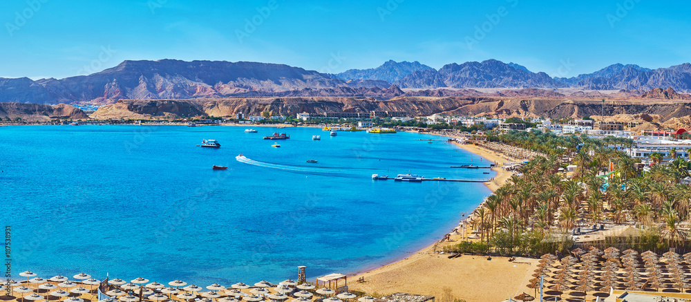 Fototapeta Panorama of El Maya bay beaches, Sharm El Sheikh, Egypt
