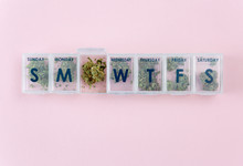 1 Week Pill Box Filled With Marijuana For Microdosing