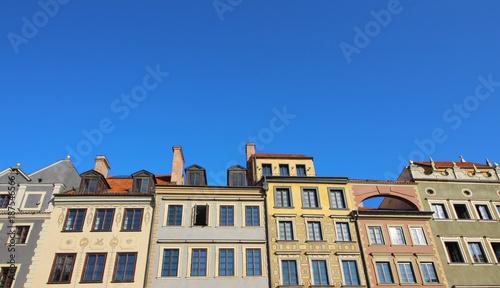 Casas de colores en Varsovia, Polonia