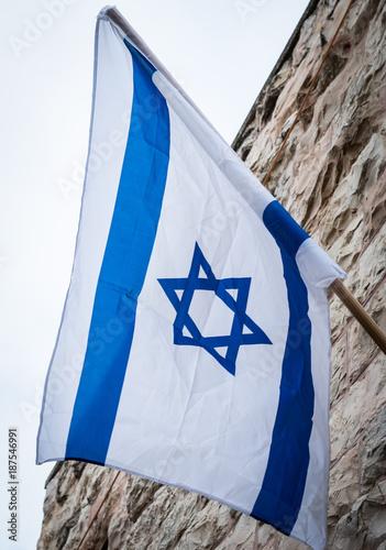 Israelische Flagge Canvas Print
