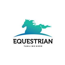 Equestrian Horse Logo Template...