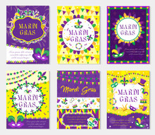 Mardi Gras Carnival Set Poster...