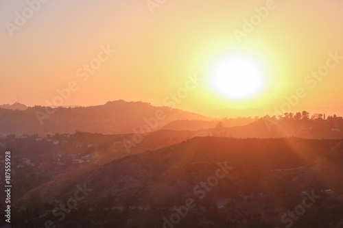 Foto op Aluminium Bergen Sunset