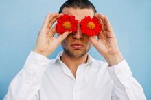 A Man With Red Flower Eyes