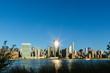 View of manhattan skyline from Hudson River,New York City