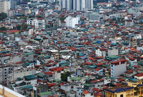 Interesting urban architecture feature, Vietnam Hanoi