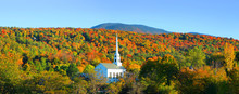 Iconic Church In Stowe Vermont...