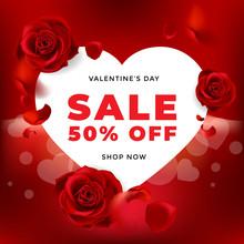 Valentines Day Sale Background...