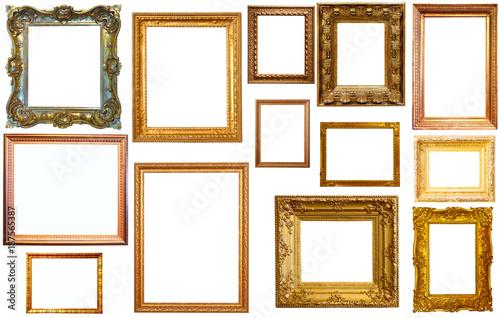 Fototapeta collection of isplated frames obraz na płótnie