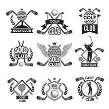 Monochrome Labels For Golf Clu...