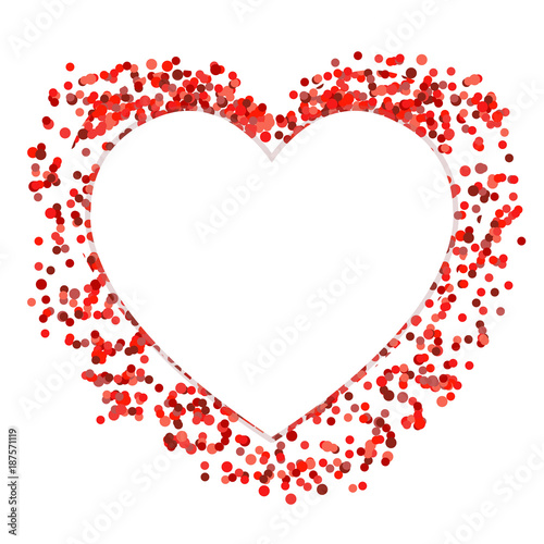 Red Confetti Heart Template Buy This Stock Vector And