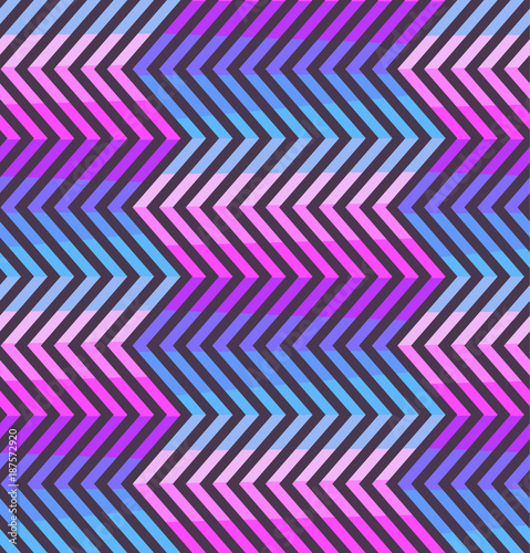 Foto op Aluminium ZigZag Abstract zigzag seamless pattern in blue, pink and violet colors. Fashion purple crankle texture with colorful zigzags for youth textile, wrapping paper, cover, banner, background, fabric print