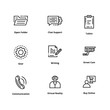 9 user interface line icon