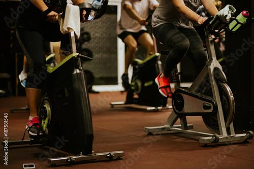 Foto op Plexiglas Fietsen weightloss cycling indoors
