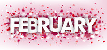 Hearts Pink Header February