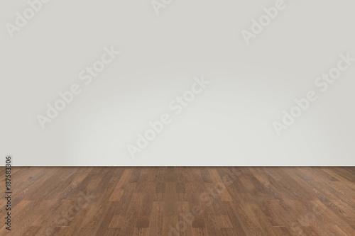 Obraz na plátne Walnut wood floor with wall background