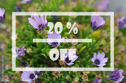 Obraz Spring sale 20 percent - fototapety do salonu
