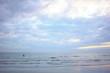 Outdoor lanscape of beautiful sea with vanilla sky