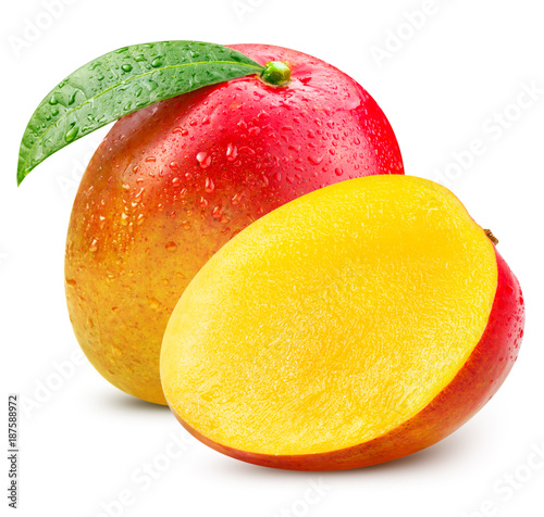 Fototapeta Ripe mango isolated