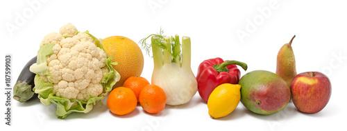 Spoed Foto op Canvas Verse groenten Obst und Gemüse