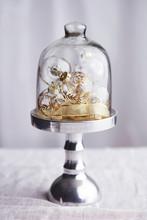 Glass Christmas Baubles, Under Glass Cloche, Still Life