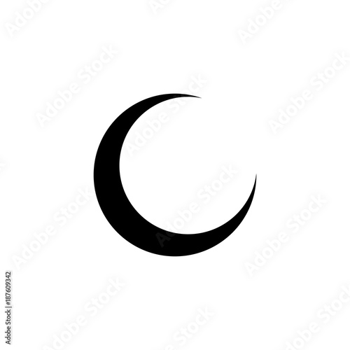 Canvas Print Moon phase vector icon