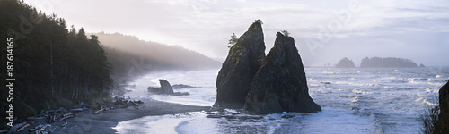USA, Washington State, Olympic National Park, Seastack at Rialto beach - 187614165