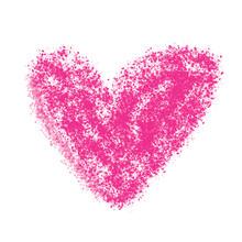 Painted Heart Simple Vector Illustration Design Element