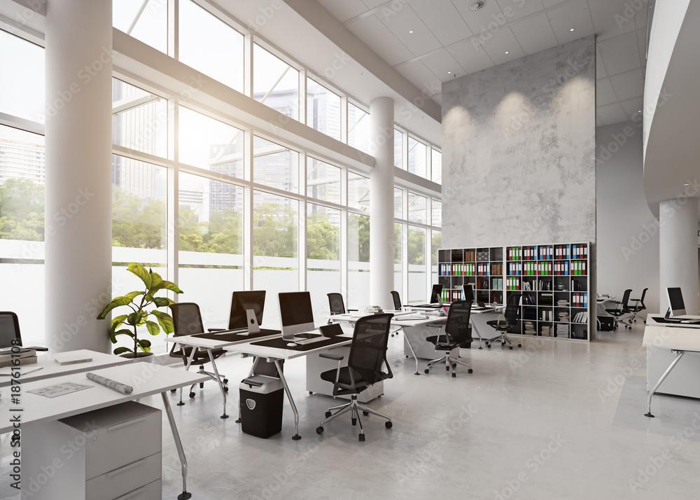 Fototapety, obrazy: modern office building interior.