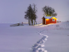 Little Snow-covered Scandinavi...