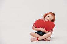 Adorable Little Child Hugging ...