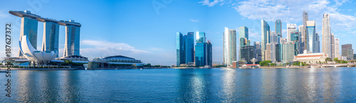 skyline of singapore at the marina bay Canvas Print