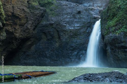 Beautiful Pagsanjan Waterfall In Laguna, Philippines At Summer