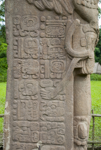 Quirigua Mayan archaeological Site on Guatemala. 400 D.C. It is located in the municipality of Los Amates, in the Department of Izabal. Fototapete