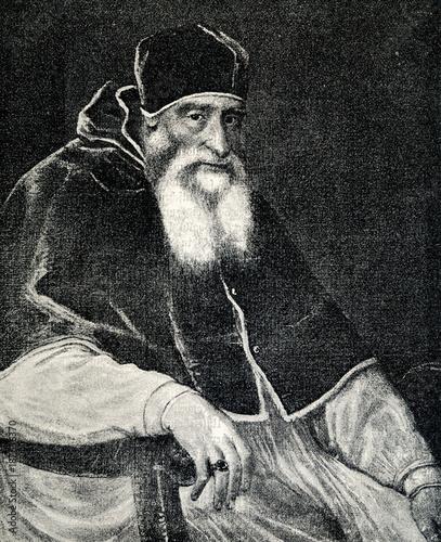 Portrait of Pope Paul III by Titian (from Spamers Illustrierte  Weltgeschichte, 1894, 5[1], 346) Fotomurales