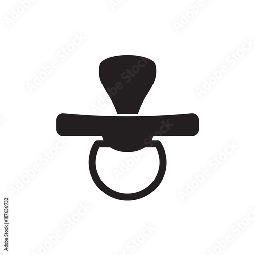 Fotografie, Obraz  baby pacifier, soother icon- vector illustration