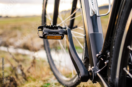 The part of bicycle with pedal © Giddrid