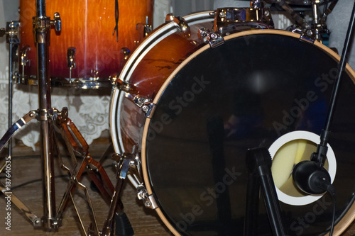 Fototapeta  modern drum set