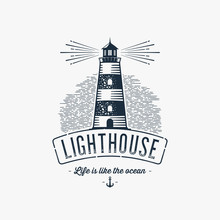 Lighthouse Blue Gray