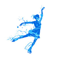 Silhouette Of Figure Skating G...