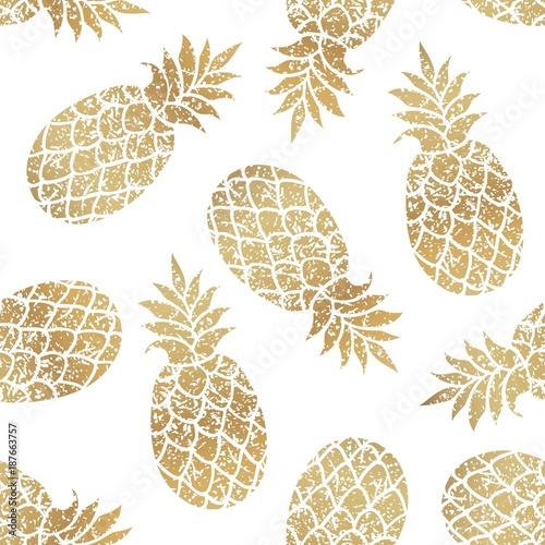 zlote-ananasy-bezszwowe-wektor-wzor-na