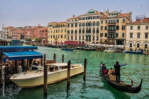 Türaufkleber Gondeln Venedig, Canal Grande