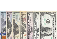 Us Dollar Bill Isolated On Whi...