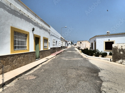 Los Albaricoques en Almeria (Andalucia,España),localidad de Níjar junto a Cabo d Wallpaper Mural