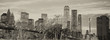 The Brooklyn Bridge in New York City with Manhattan skyline on b