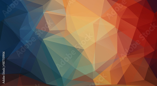 Flat abstract background with triangle shapes