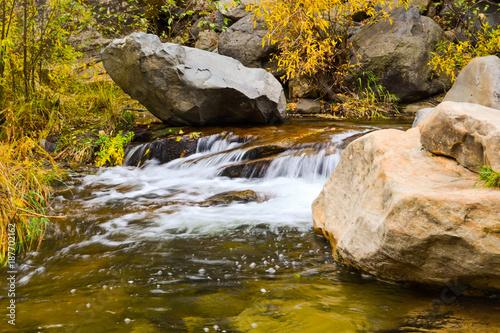 moving waterfall at arizona creek Canvas Print