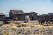 Old Western Ghost Town With Pi...