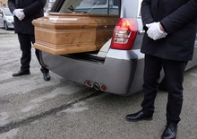 Hearse Open With Coffin