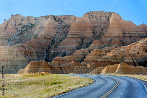 Photo Landscape Photography of Eroded hills & mountains at Badlands National Park